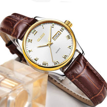 Load image into Gallery viewer, Ladies Quartz Brown Leather Watch
