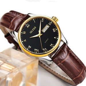 Ladies Quartz Brown Leather Watch