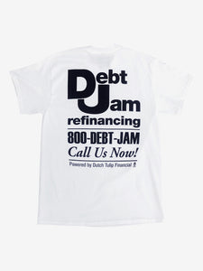 Debt Jam Refinancing Tee - White