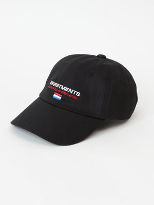 INVESTMENTS cap - Black