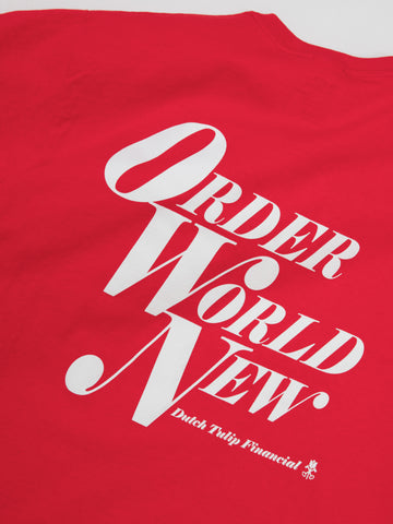 Order World New Tee - Red