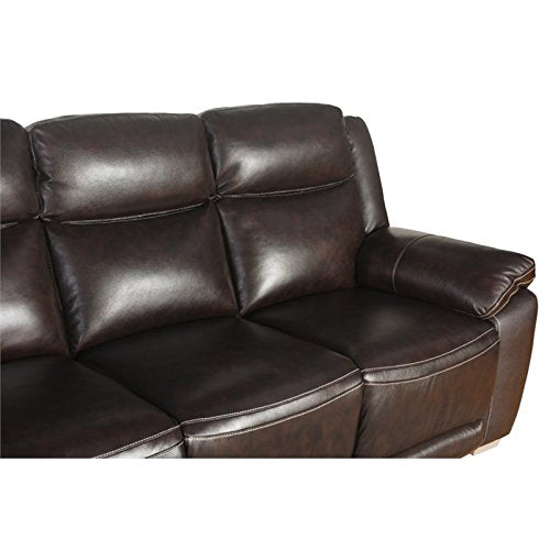 Pleasant Abbyson Living Graham Top Grain Leather Reclining Sofa In Brown Unemploymentrelief Wooden Chair Designs For Living Room Unemploymentrelieforg
