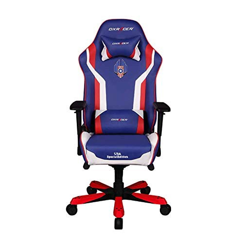 DXRacer OH/KS186/IWR/USA3 Special Edition USA King Series Gaming Chair  Ergonomic High Backrest Office Computer Chair Esports Chair Swivel Tilt and