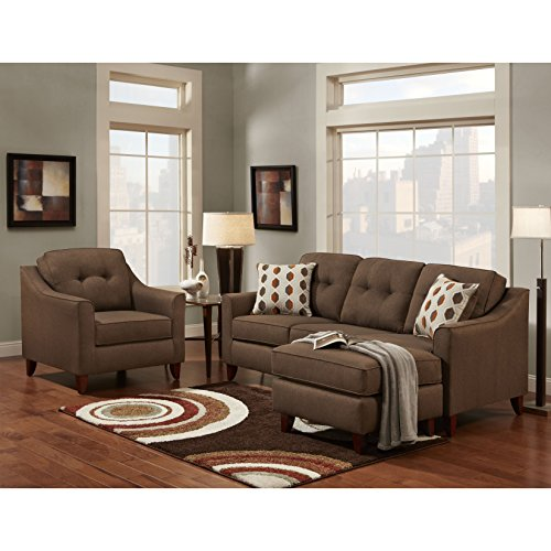 Terrific Sofa Trendz Bey Brown Microfiber Sofa Chaise And Chair Set Of 2 Cjindustries Chair Design For Home Cjindustriesco