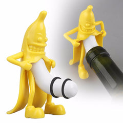 The Perfect Conversation Starter - Hilarious Mr.Banana Wine Bottle Stopper