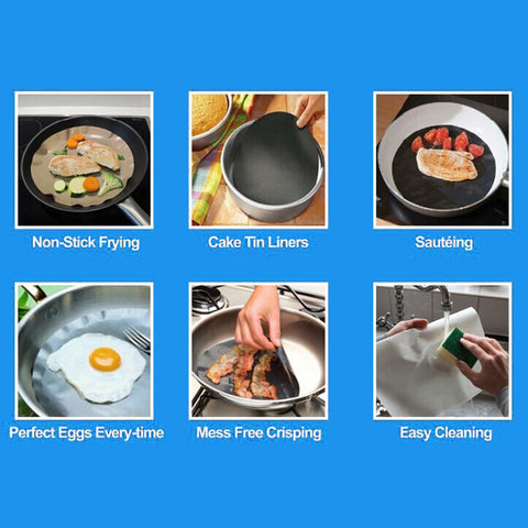 EasyFlip™ Silicone Pan Liner - 2pcs 【60% Off!】