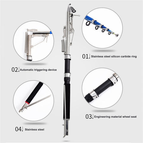Premium Stainless Steel Automatic Fishing Rod