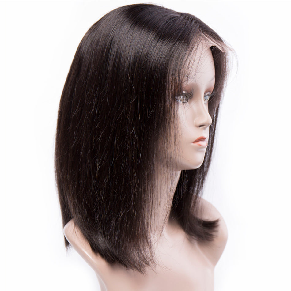 Straight, Short Cut Bob - Remy Human Hair