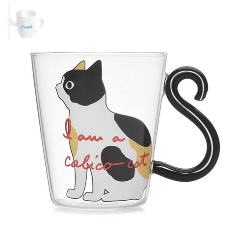 Precious Glass Cat Mugs with a Genius Handle!  - Limited stock!