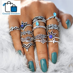 Retro 13pcs Boho Ring Set
