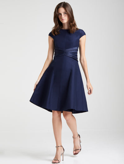 Satin Insert Dress - Halston