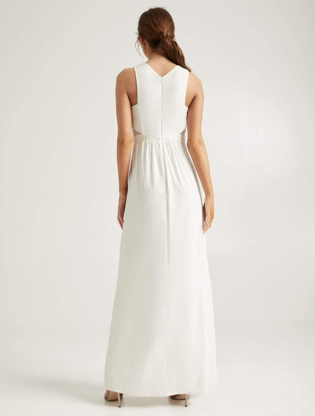Embellished Jersey Gown - Halston