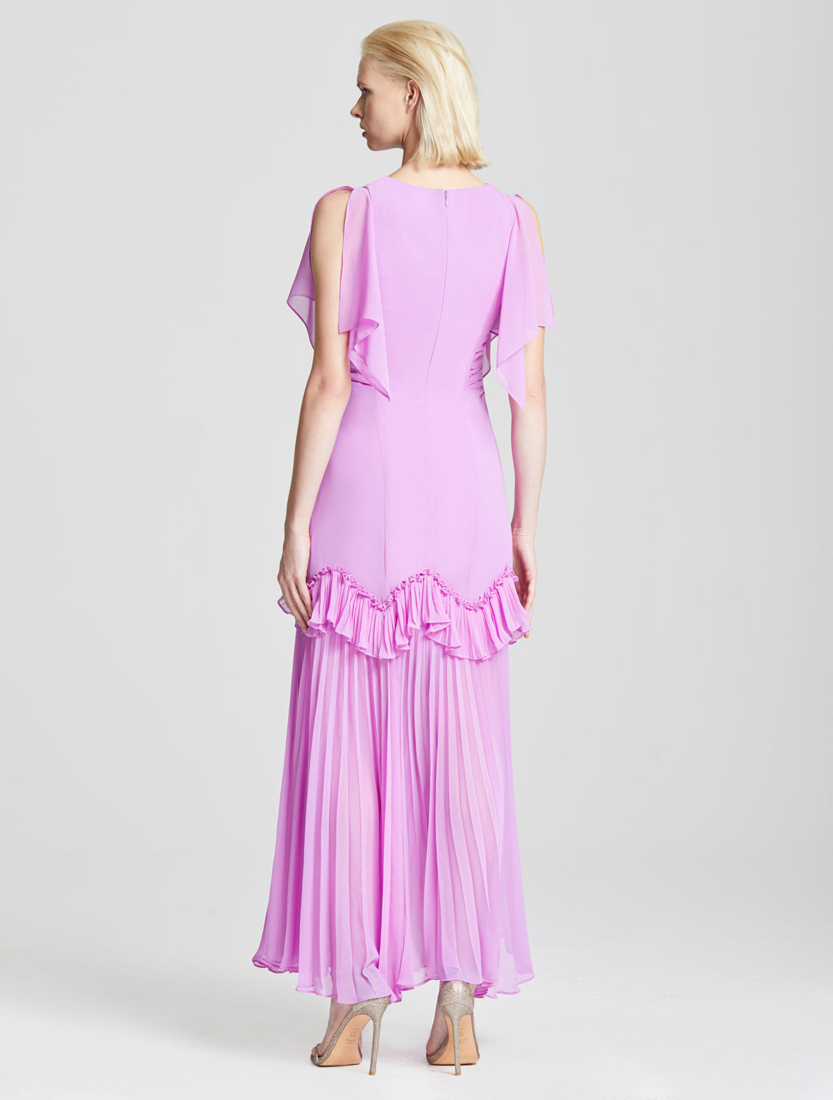 Dramatic Pleated Gown - Halston