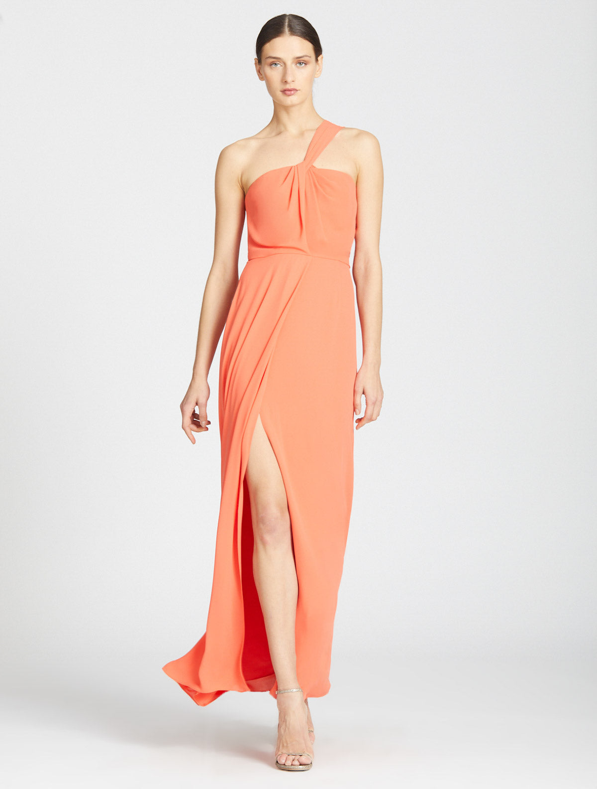 One Shoulder Twist Gown