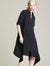 Side Pleated Shirt Dress - Halston