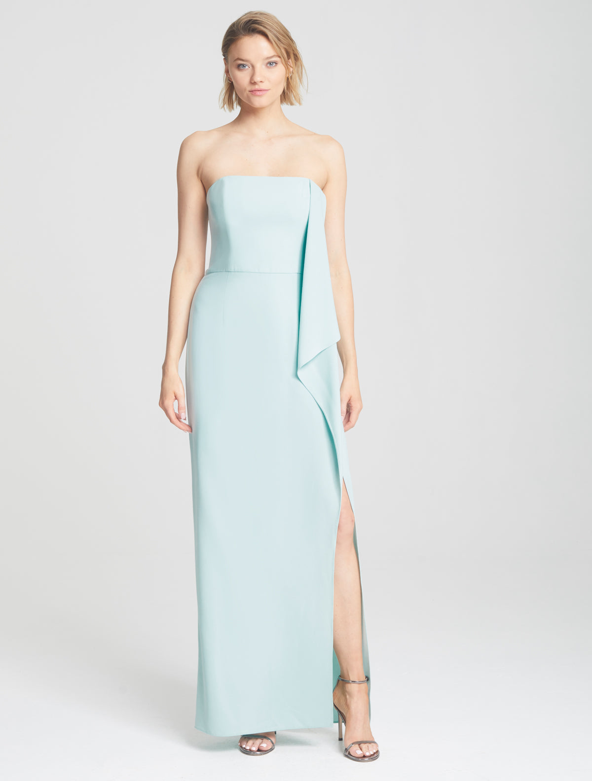Draped Cape Gown - Halston