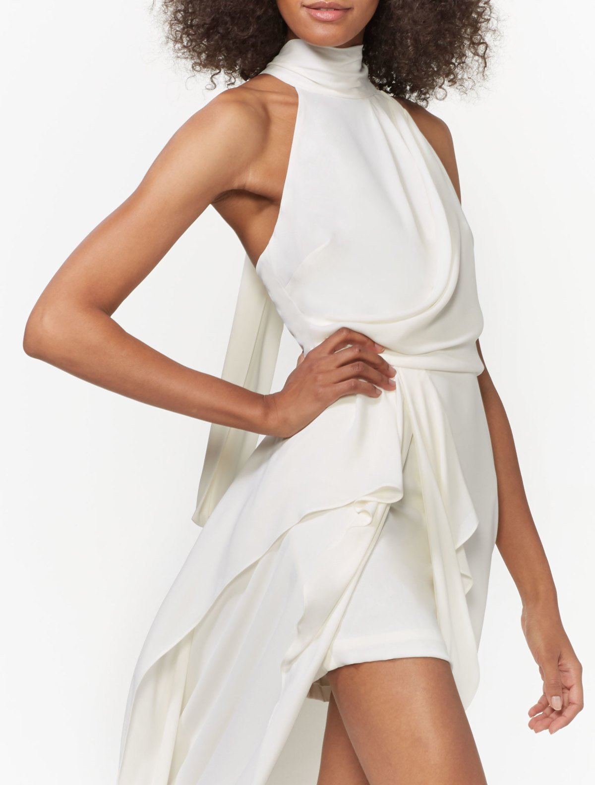 SLEEVELESS MOCK NECK GOWN - Halston