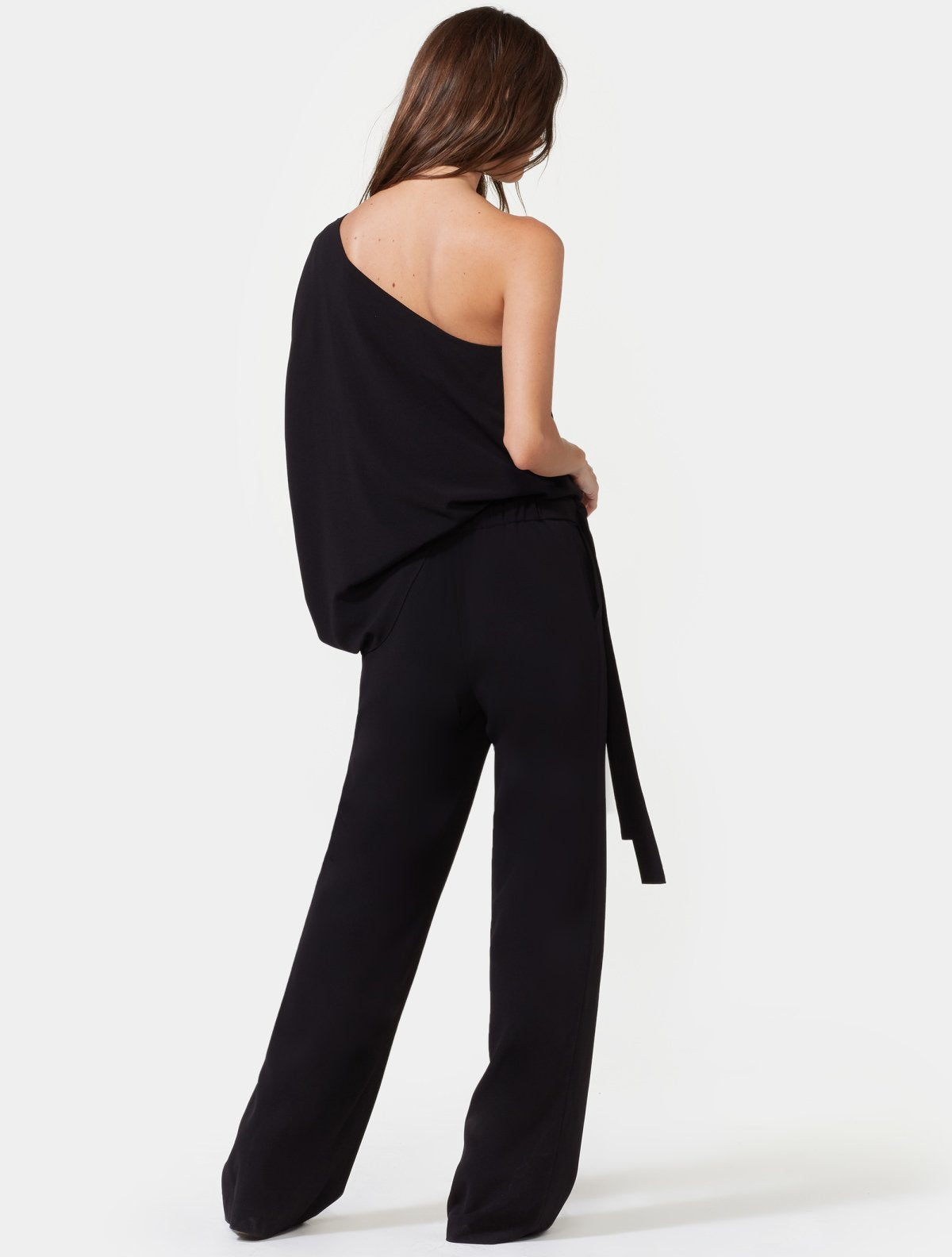 ONE SHOULDER JUMPSUIT - Halston