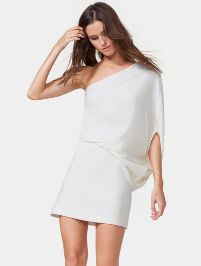 ONE SHOULDER DRESS - Halston
