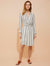 Stripe gauze faux wrap shirtdress - Halston