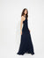 Ruched georgette gown - Halston