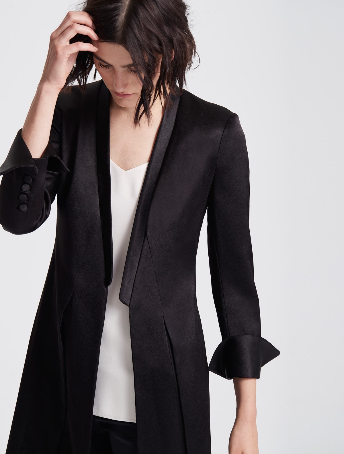 Satin Duster Jacket - Halston