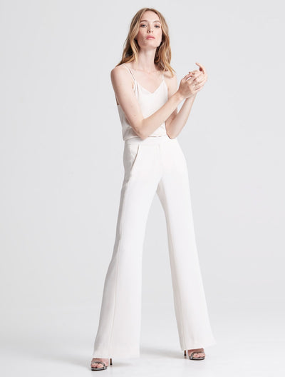 Pleat Detail Suiting Pant - Halston