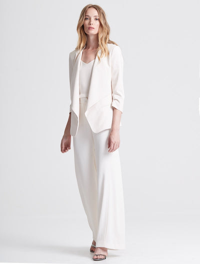 Drape Front Crepe Suiting Jacket - Halston