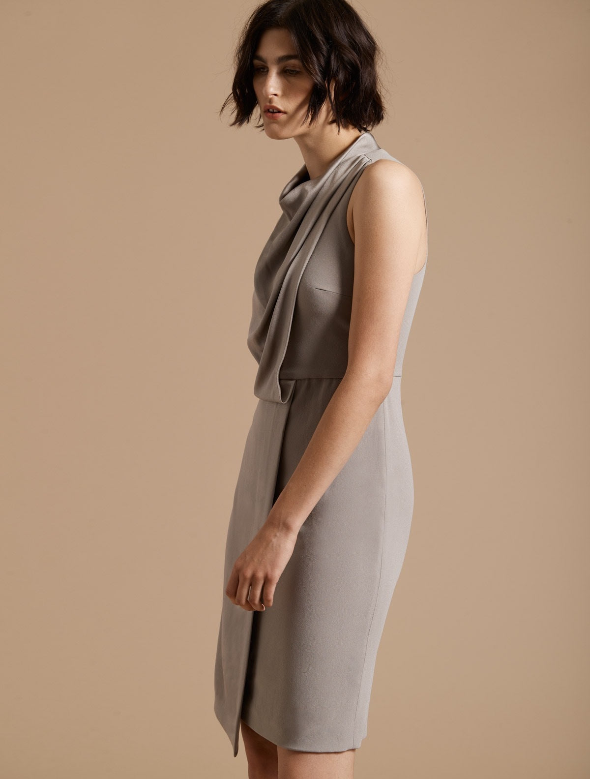 Cowl Drape Dress - Halston