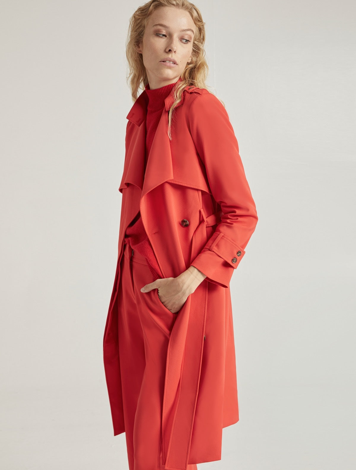 SUITING TRENCH COAT - Halston