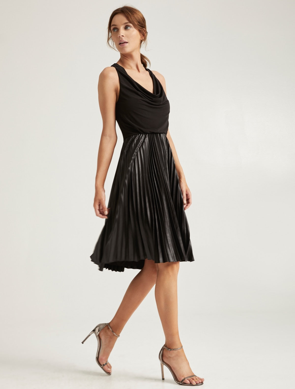 Pleated Chintz Dress - Halston