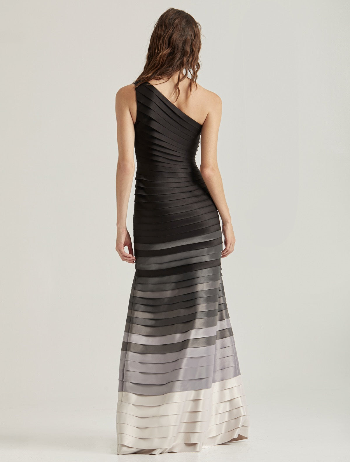 OMBRE STRIP GOWN - Halston