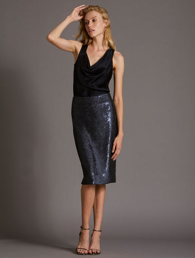 SEQUINED SKIRT - Halston
