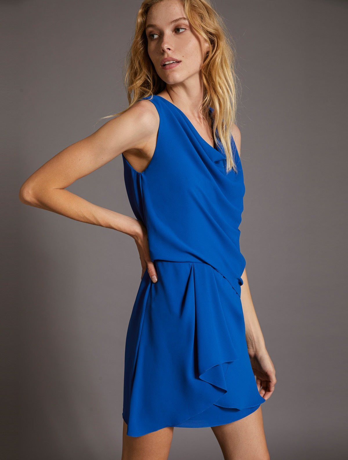 DRAPED DRESS - Halston
