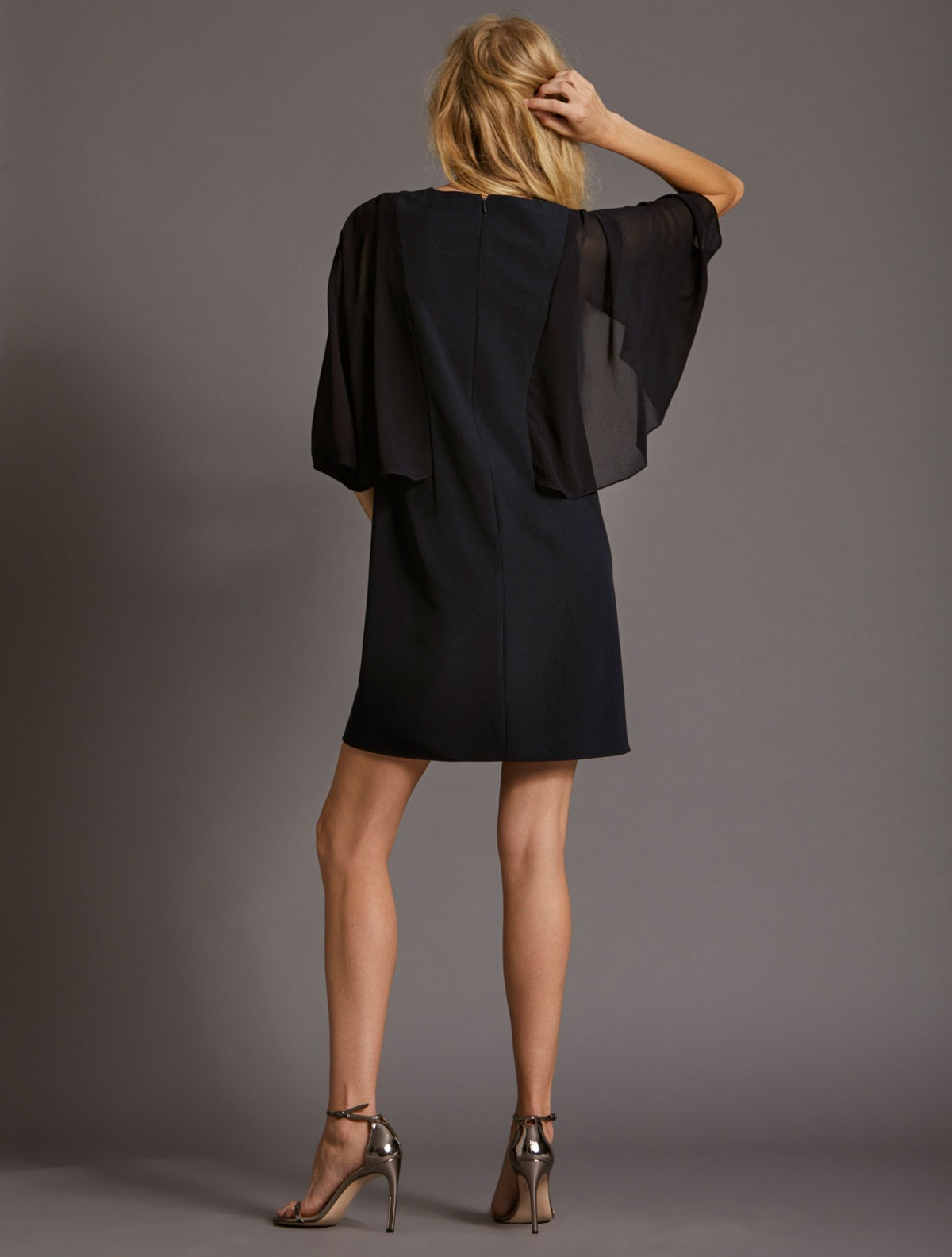 Blouson Sleeve Dress - Halston
