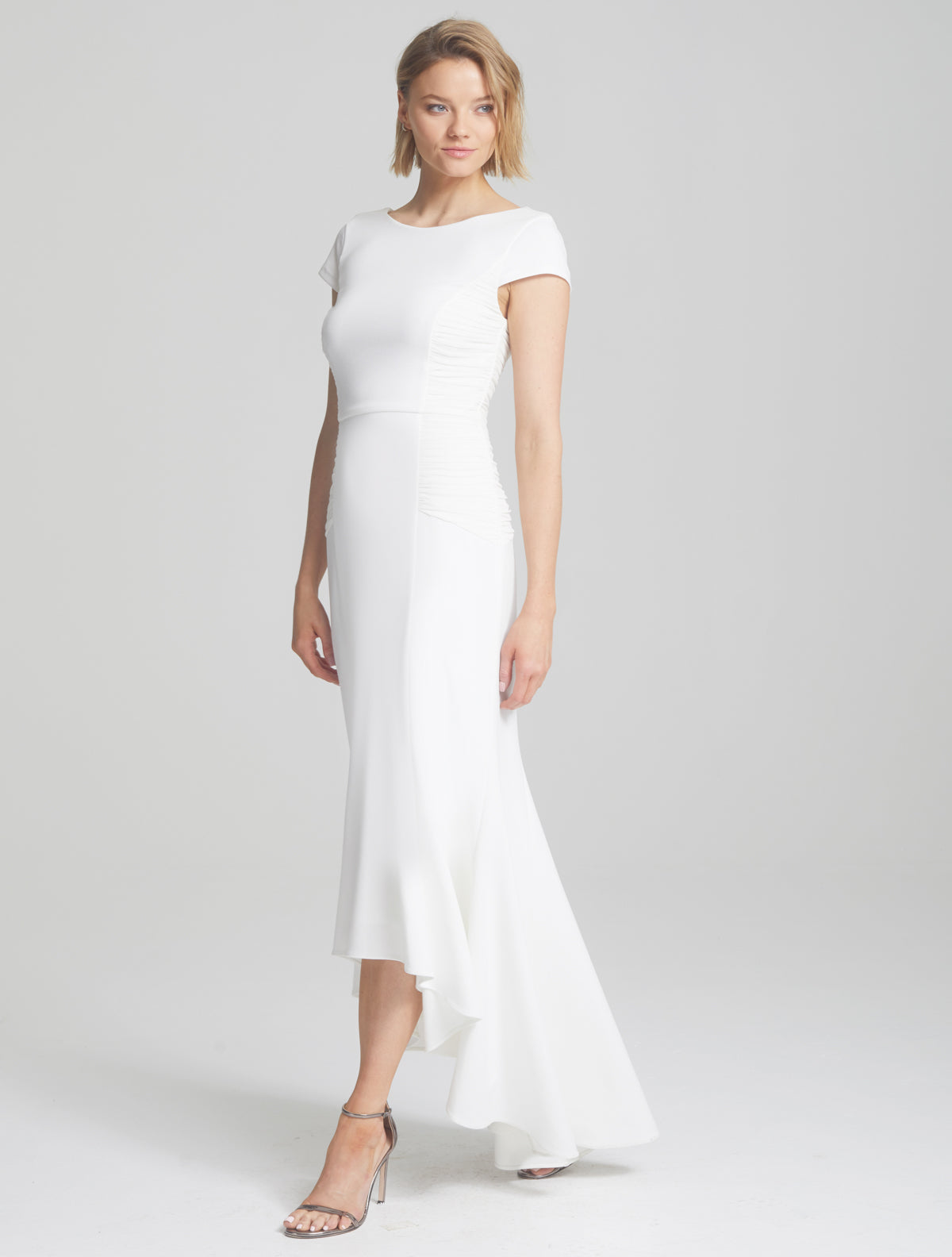 Side Ruching Gown - Halston