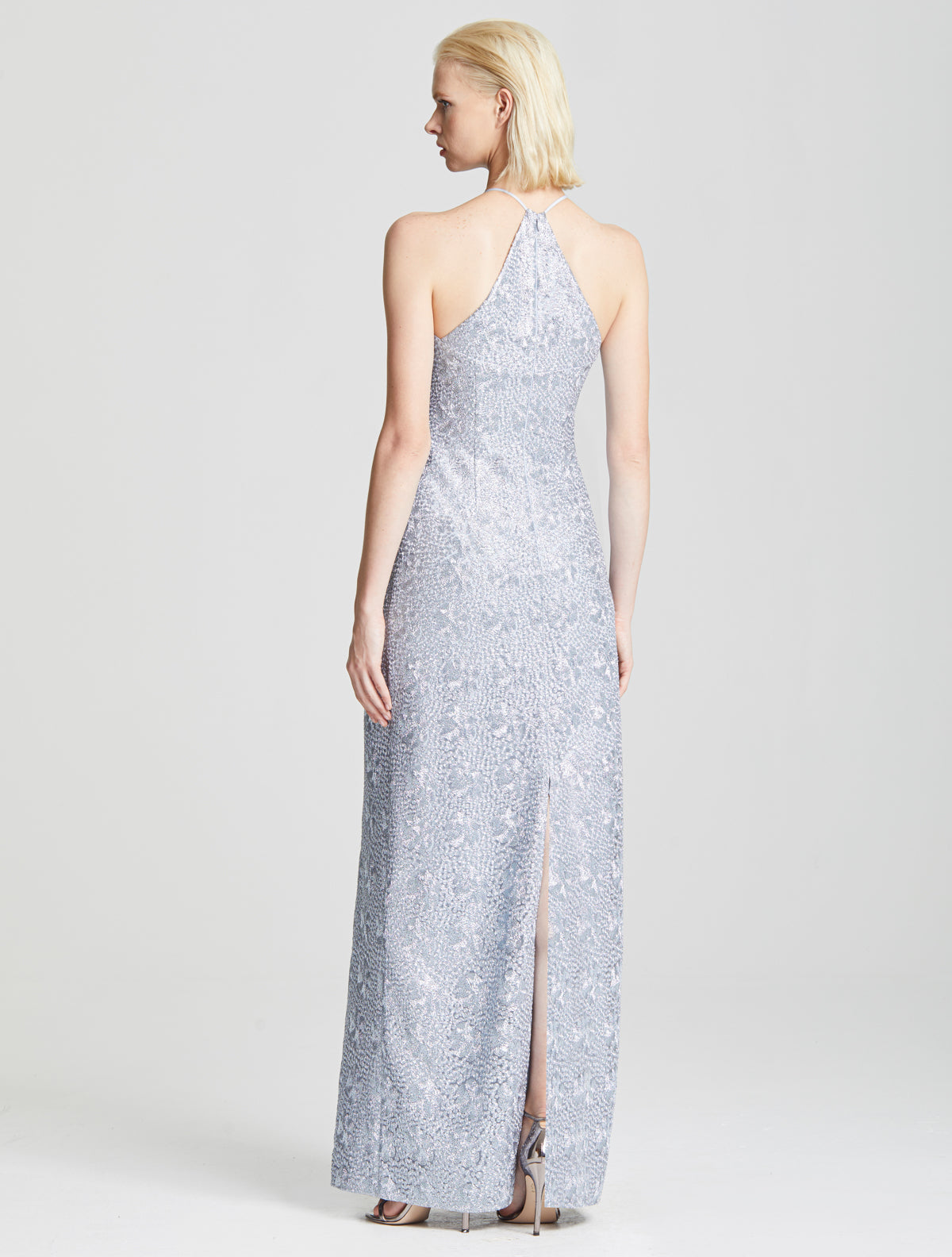Fitted Embroidered Gown - Halston
