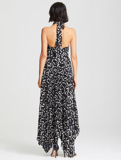 Cowl Pleated Dress - Halston