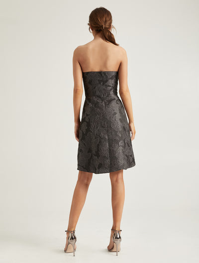 Metallic Jacquard Dress - Halston