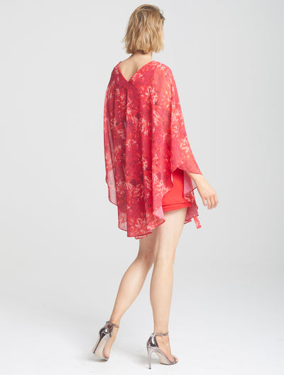 Cape Overlay Dress - Halston