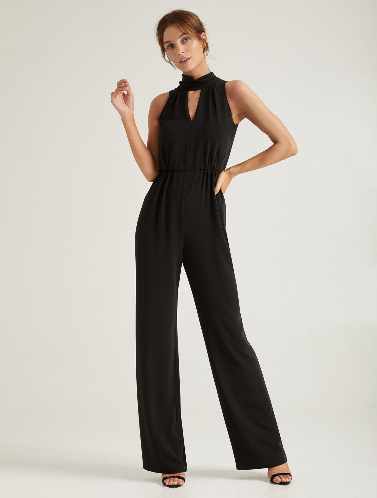Mock Neck Jumpsuit - Halston