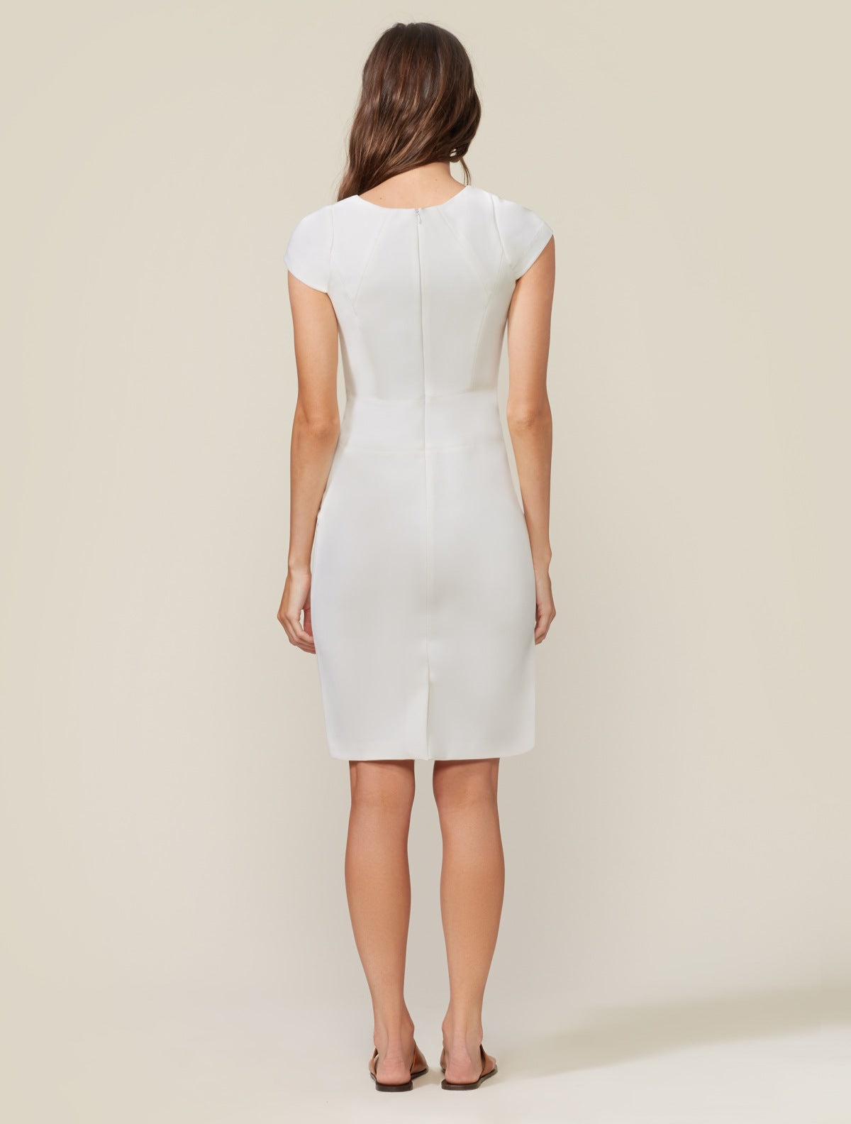Cap Sleeve Sheath - Halston