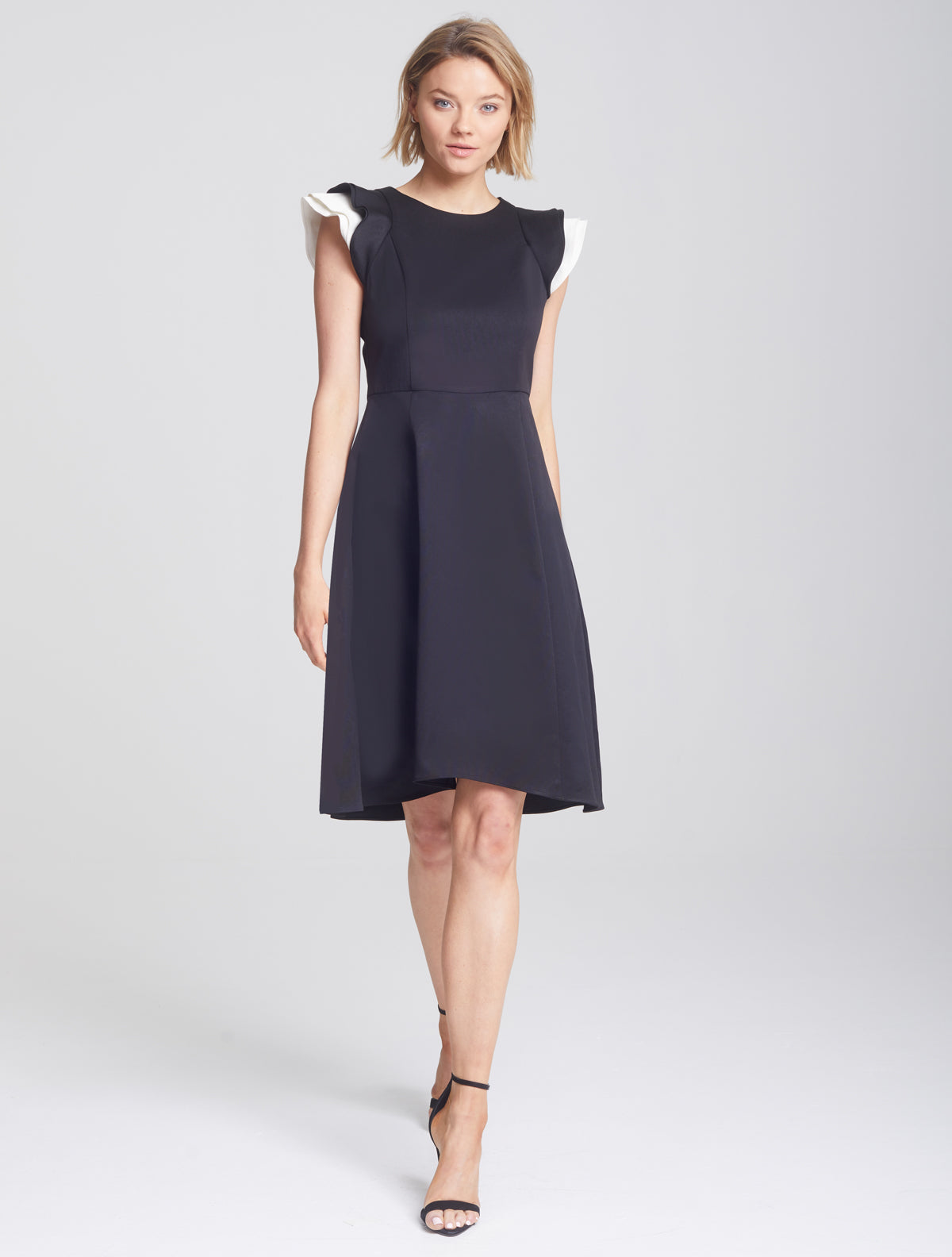 Ruffle Sleeve Dress - Halston