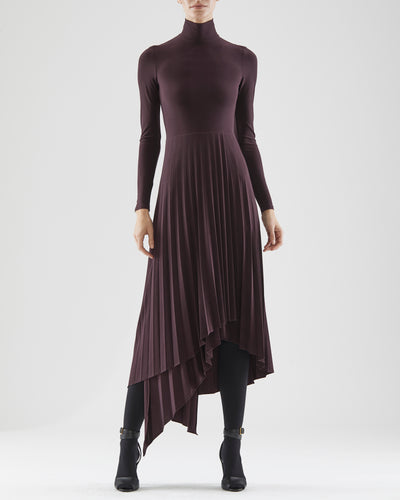 Liv Jersey Pleat Dress
