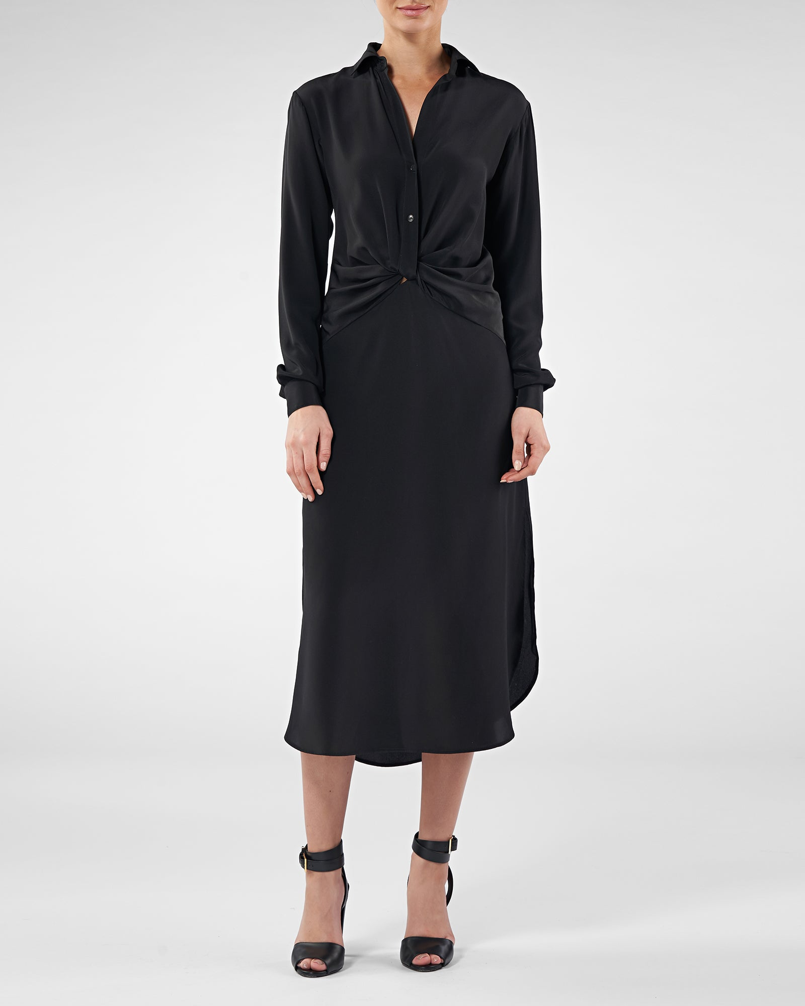 Maeve Silk Shirt Dress