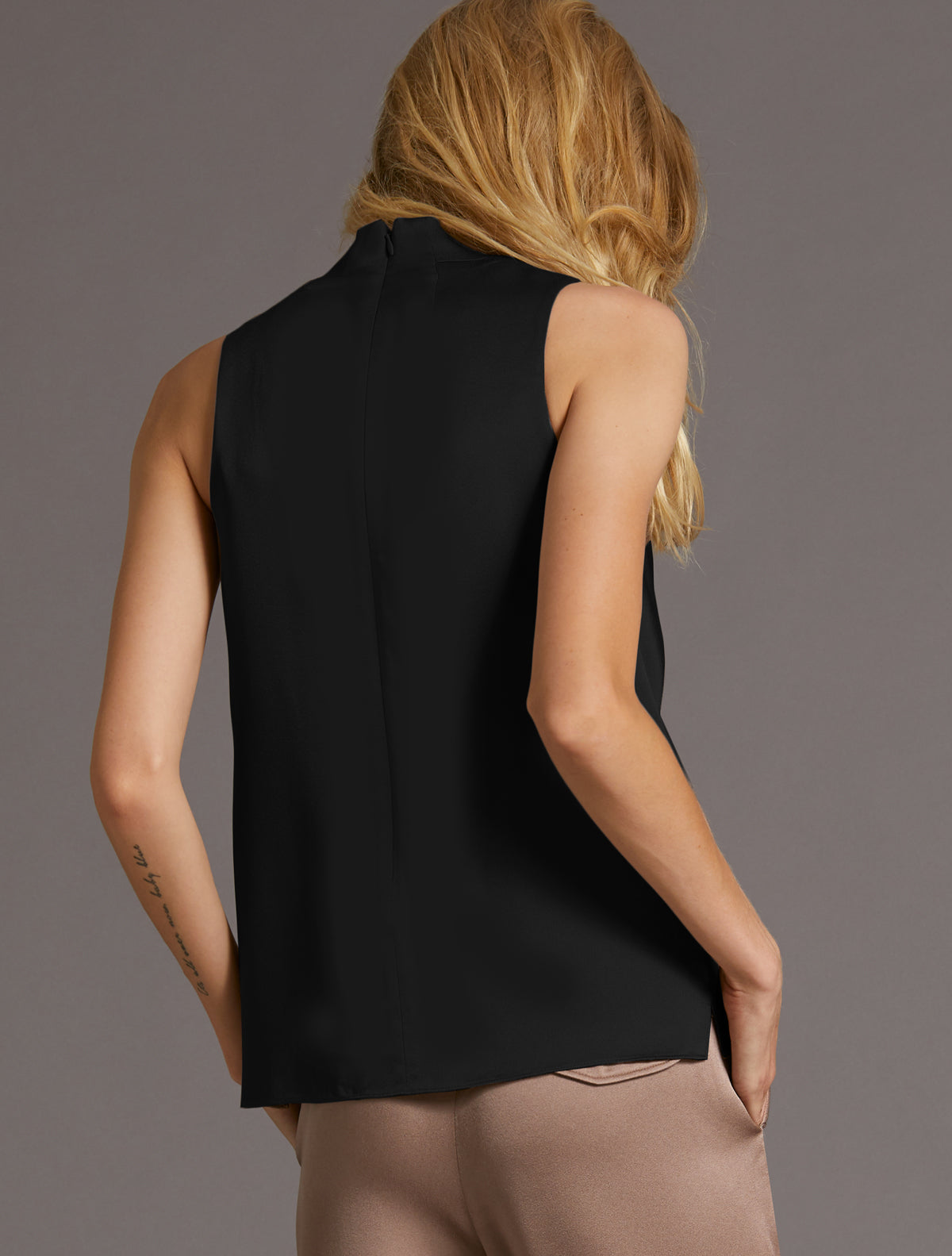 Draped Neck Top - Halston