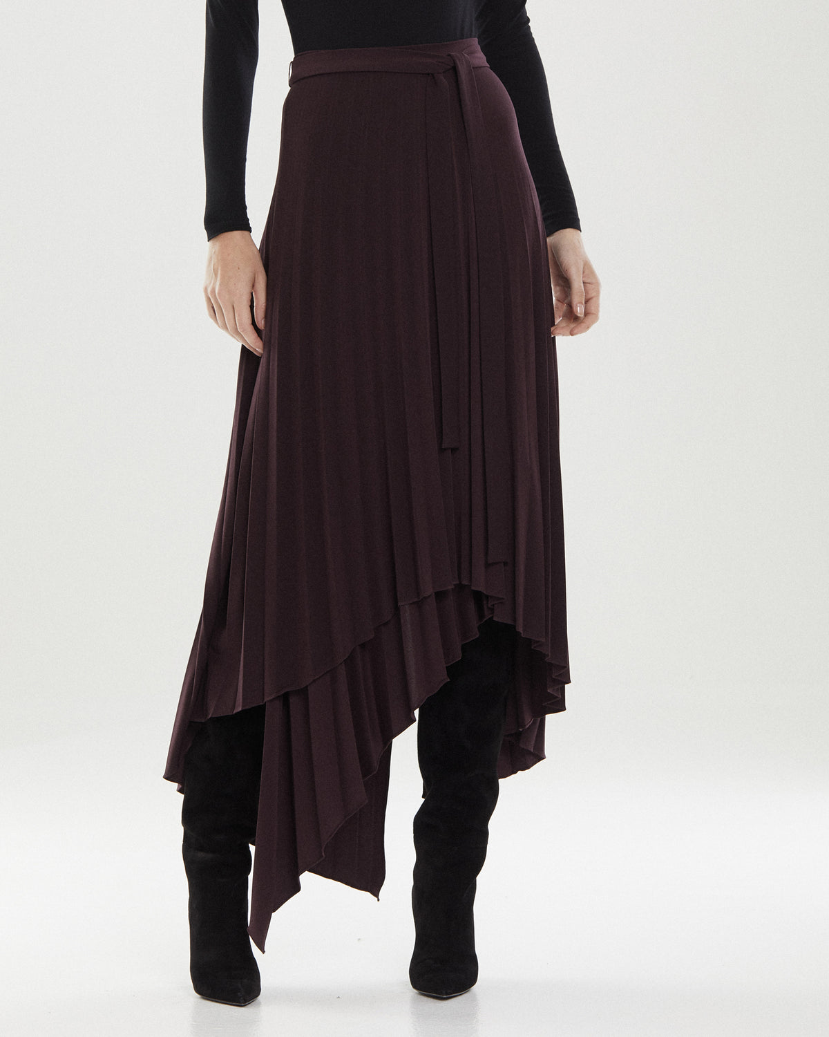 Ella Jersey Pleat Skirt