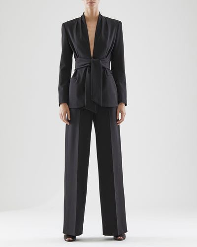 Ana Knit Tie Belt Jacket