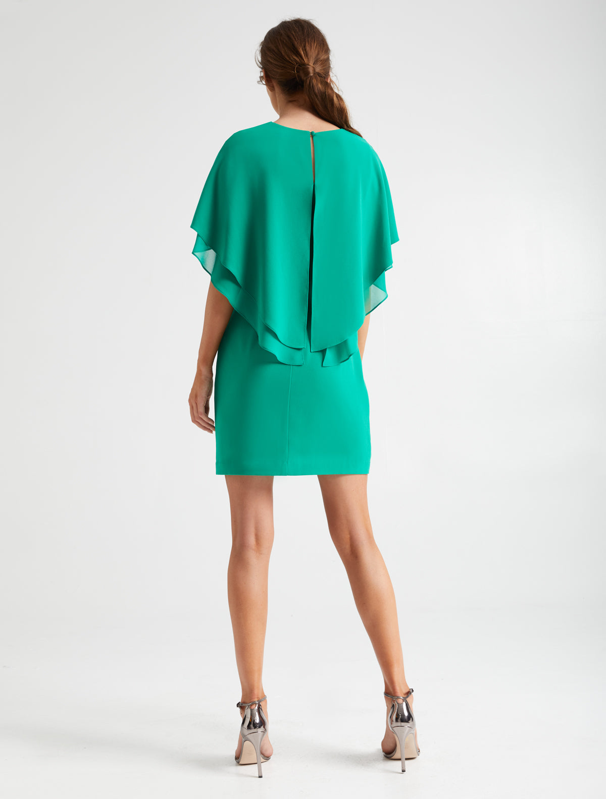 Cape Sleeve Dress - Halston