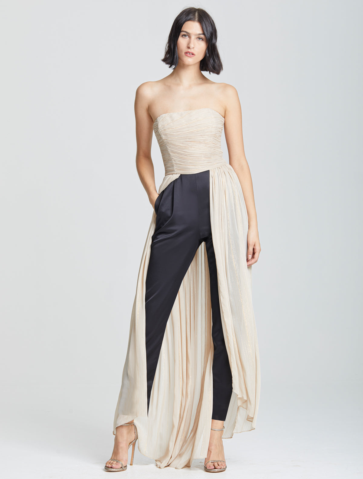 Dramatic Pleated Jumpsuit - Halston